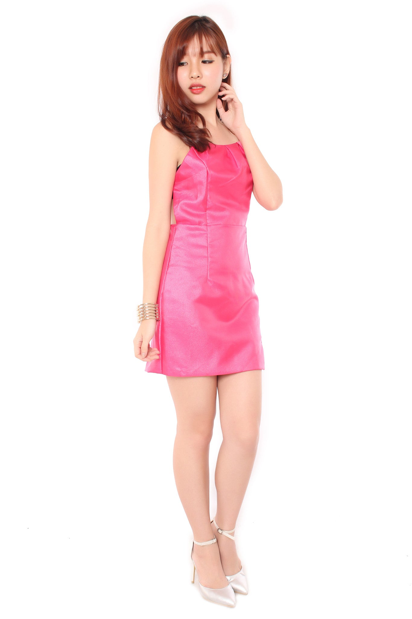 Jolle Back Dress in Pink