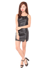 Jolle Back Dress in Black
