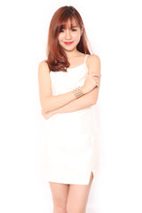 Jolle Back Dress in White