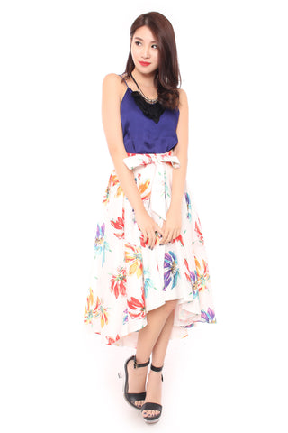 Floral Fantasy Skirt in White