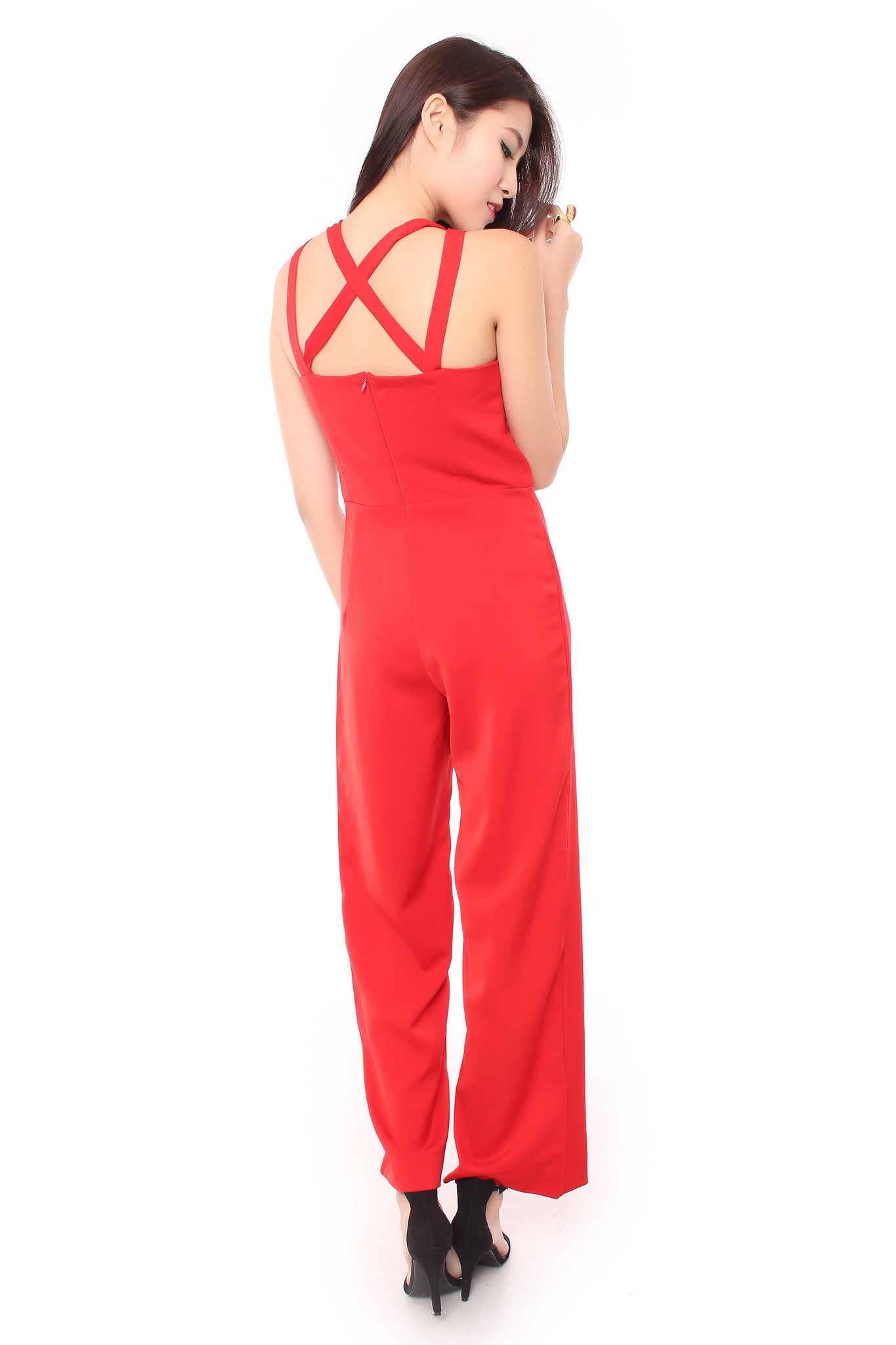 Romance Jumpsuit in Red