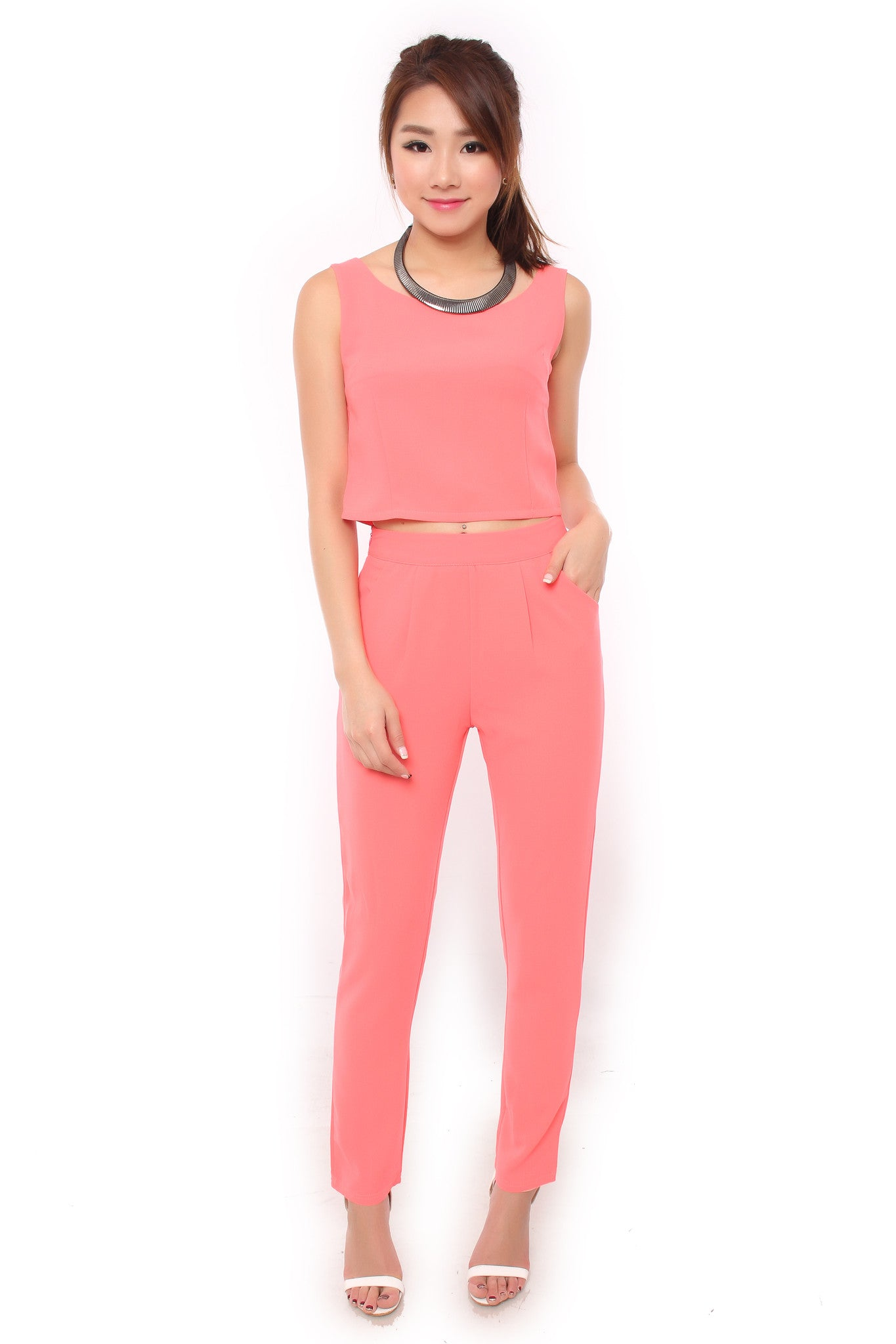 HOLLY TWO-PIECE SET IN BLUSH