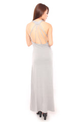 CURVED EDGE MAXI IN GREY