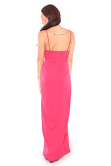 Auds Hem Dress in Pink
