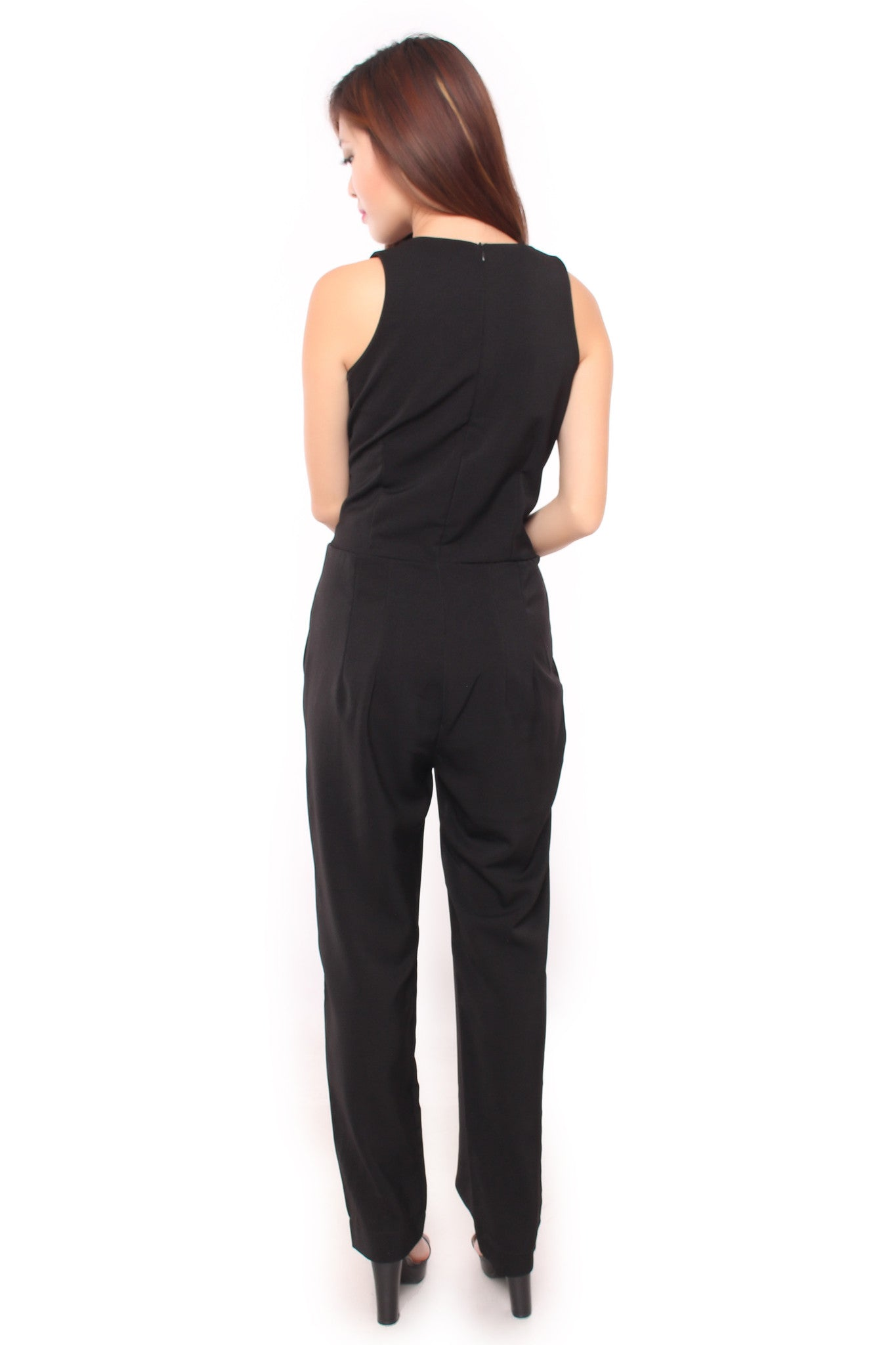 ADDY BOW JUMPSUIT IN BLACK