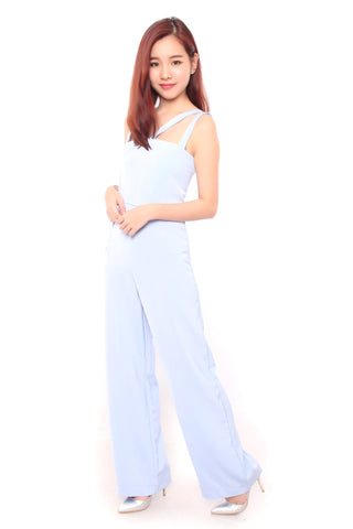 Romance Jumpsuit in Baby Blue