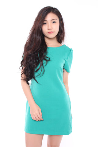 FLUTTER SHIFT DRESS IN MINT