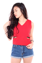 LUX SIDE SLIT - RED
