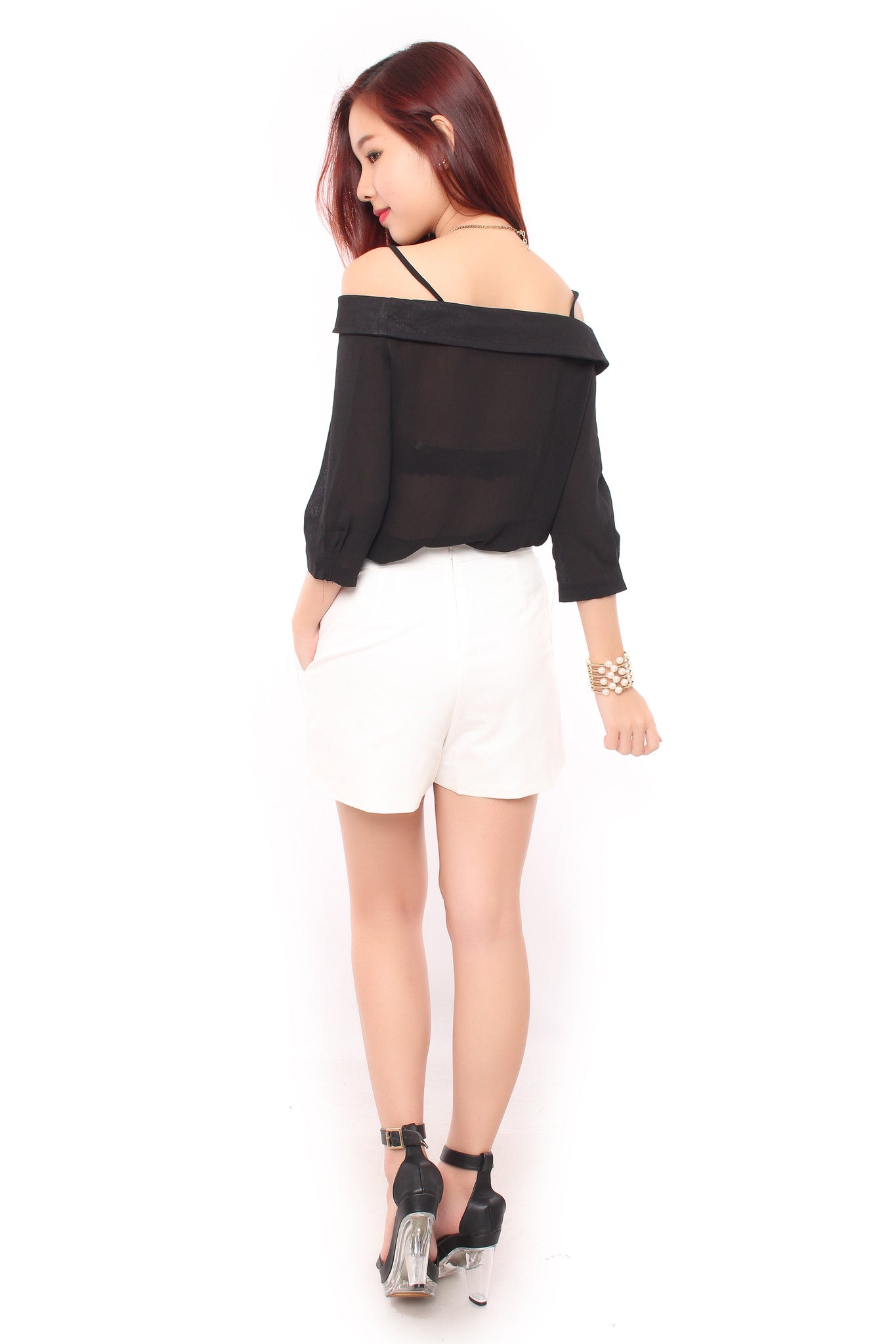 Shayne Off Shoulder in Black