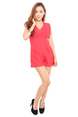 Adelia Romper in Red