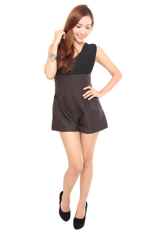 Adelia Romper in Black