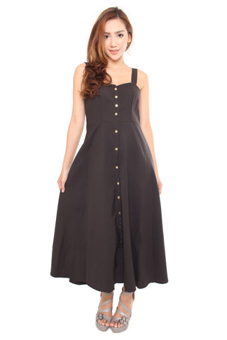 BRIT BUTTONED DRESS