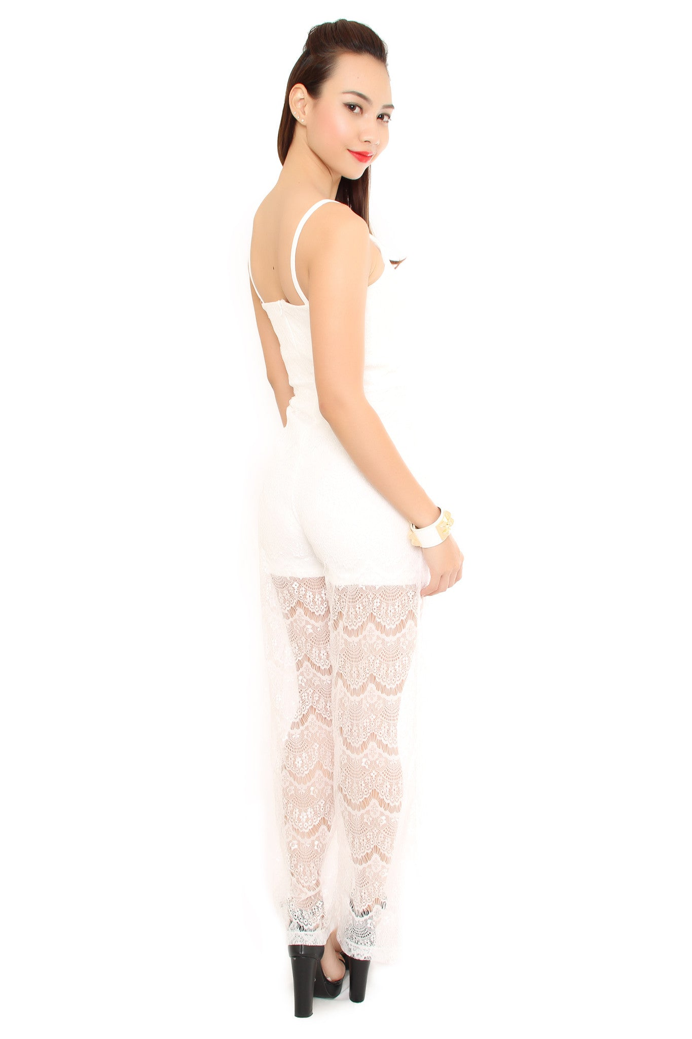 CARMEN LACE jumpsuit WHITE