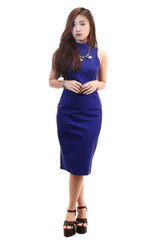 AMBER MIDI DRESS IN BLUE