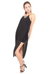 CADE SLIT MAXI IN BLACK
