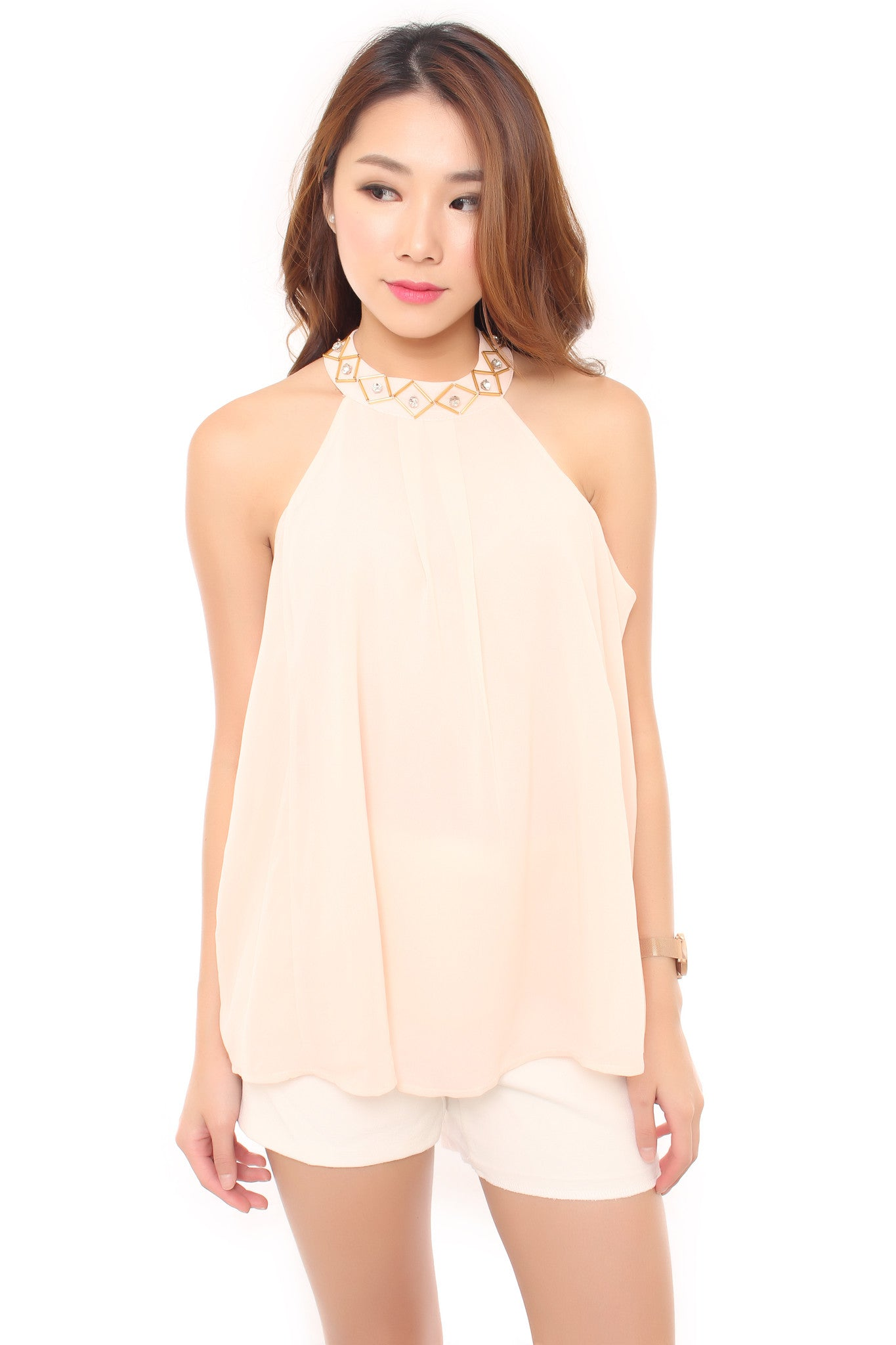 Robyn Top in Peach