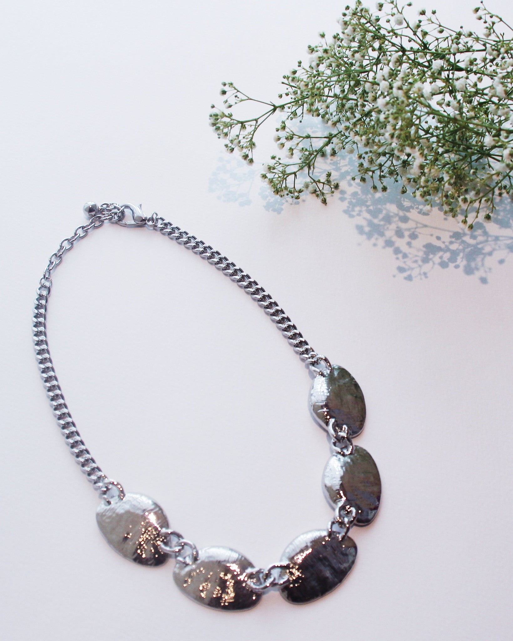 Silver Stones Necklace