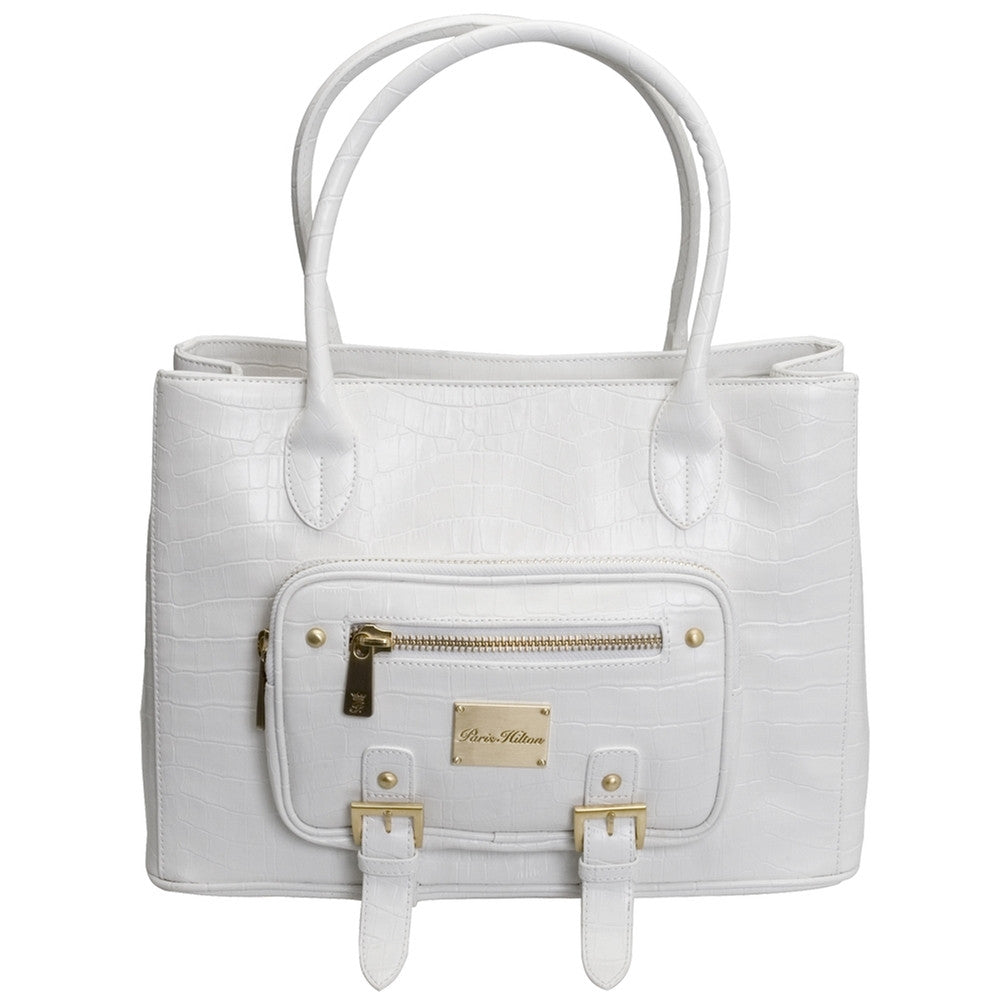 Croco Dream White Shoulder Bag