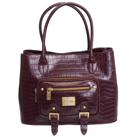 Croco Dream Wine Handbag