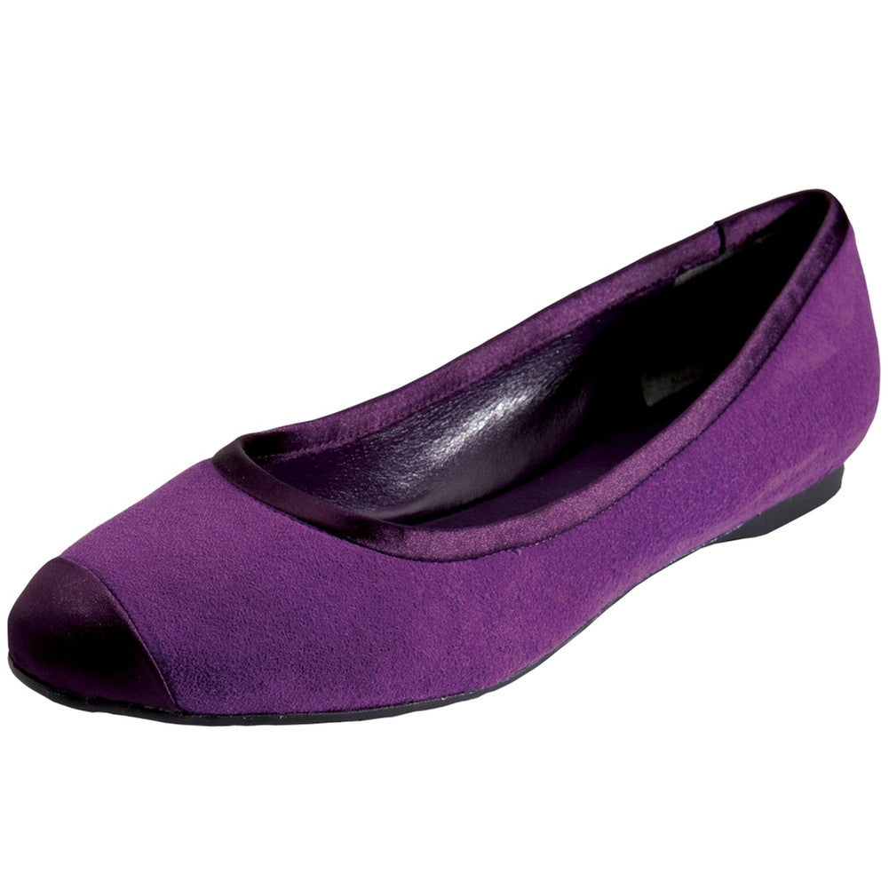 Darnella - Purple Suede Satin