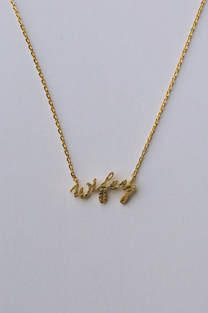 Wifey Necklace (Gold & Rose Gold)