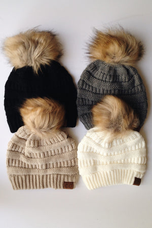 Pom Knit Beanie (5 colors)