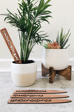 Cedar Plant Markers - New to Gardening Set
