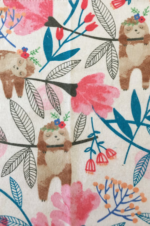 Cotton Cloth Napkins (Sloths + Polka Dots 4 pack)