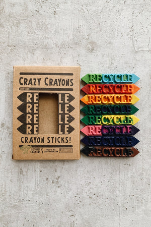 Crazy Crayons - 8 pk Box (Solid or Two-Tone)