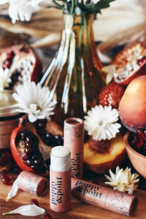 Poppy & Pout Lip Balm - Pomegranate Peach