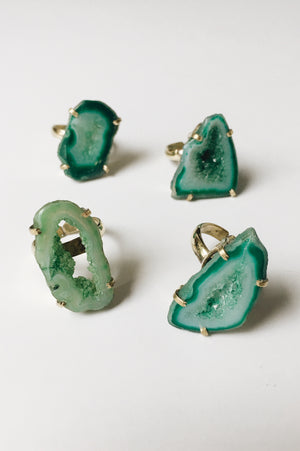 Agate Ring (Green)