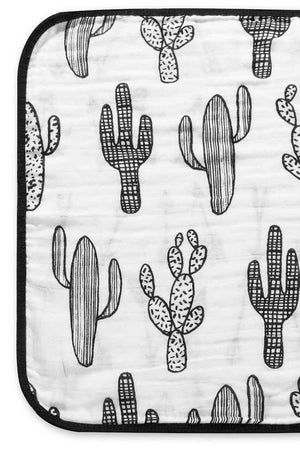 Organic Cotton Reversible Burp Cloth - Cactus + Arrows