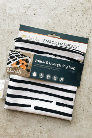 Reusable Snack Bag - B+W