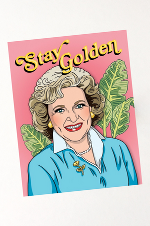 Golden Girl Birthday Card