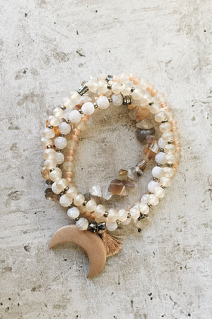 Crescent Moon Bracelet Set - Dawn