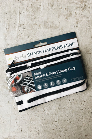 Reusable Mini Snack Bags (2 pk) - B+W