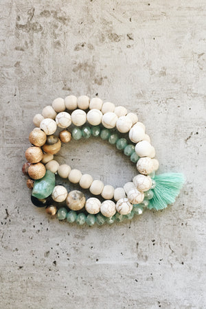 Gemstone Bracelet Set