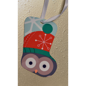 Winter Owl - Ornament - Aspireimaginary