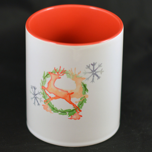 Water Color Reindeer - Mug - Aspireimaginary
