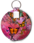Butterfly Abstract WatercolorFreedom Lip Balm Keychain Holder - Aspireimaginary