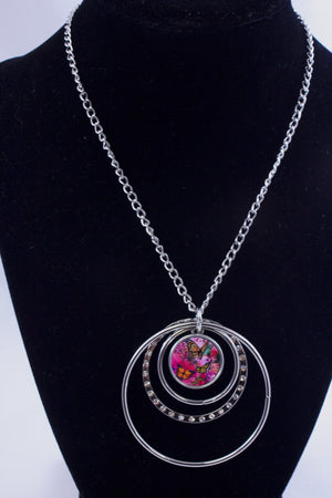 Butterfly Abstract WatercolorFreedom necklace - Aspireimaginary