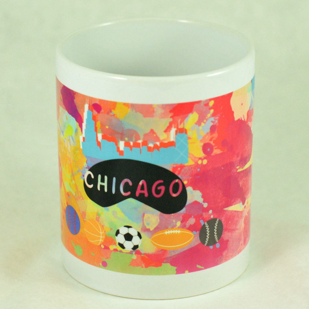 Chicago Sports (Watercolor) Mug - Aspireimaginary