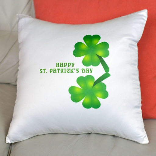 Two Four-Leaf Clovers - Pillowcase - Aspireimaginary