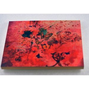 Butterfly Abstract WatercolorFreedom- Wood Block - Aspireimaginary