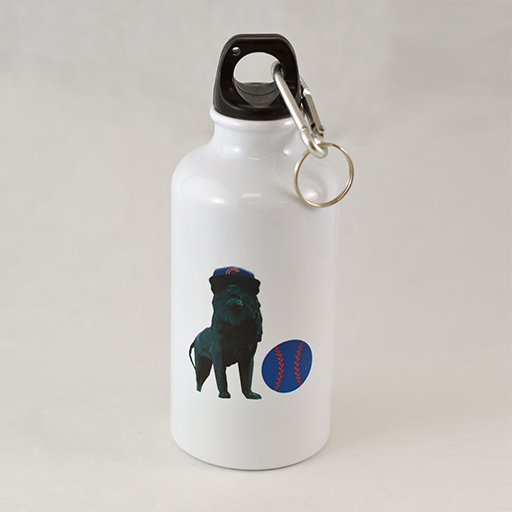 Baseball-Loving Lion - Water Bottle - Aspireimaginary
