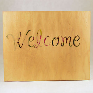 Welcome - Wood Block - Aspireimaginary