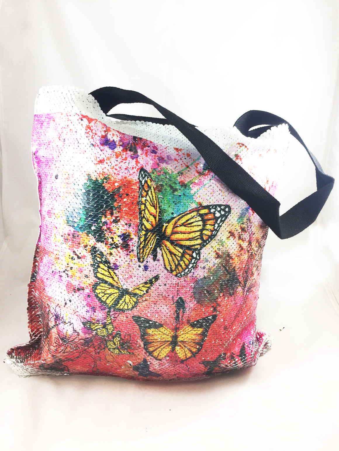 Butterfly Abstract WatercolorFreedom -tote bag - Aspireimaginary