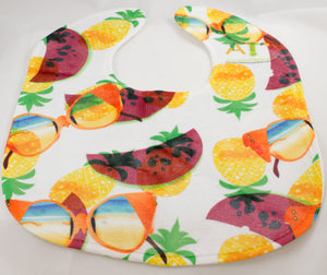 Summer Watermelon Pineapple Sunglass Baby Bib