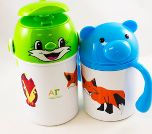 Cute Foxxy  - Children's Water Bottle - Aspireimaginary