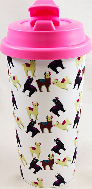 Llama Pattern- Double Wall Tumbler - Aspireimaginary